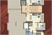 2 BHK Living Space